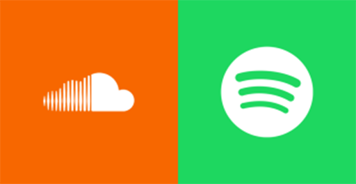 spotify and soundcloud